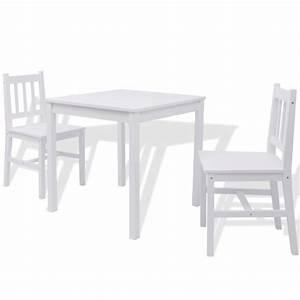 Esstisch Set Weiß : vidaxl dreiteiliges esstisch set pinienholz wei g nstig kaufen ~ Indierocktalk.com Haus und Dekorationen