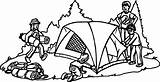 Coloring Pages Camper Camping Tent Popular sketch template