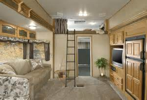RV Trailers Interiors with Lofts