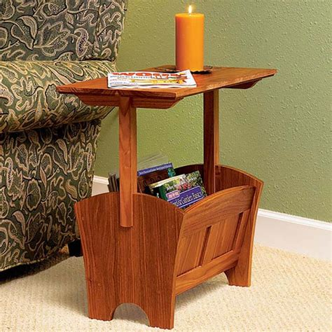 magazine racktable woodworking plan  wood magazine
