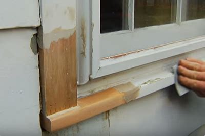 Caulking Window Sills by Window Sill Rot Repair How To Remove Rot On An