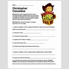 """Scavenger Hunt """"christopher Columbus"""" Worksheet  Education World"""
