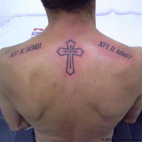 Tatouage Homme Cou Croix Tattoo Art