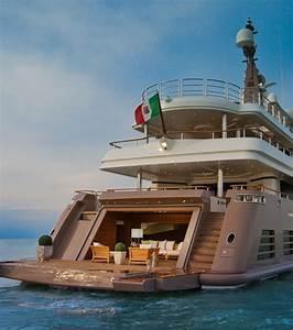 Yacht De Luxe Interieur : j 39 ade un superyacht avec garage int rieur ~ Dallasstarsshop.com Idées de Décoration