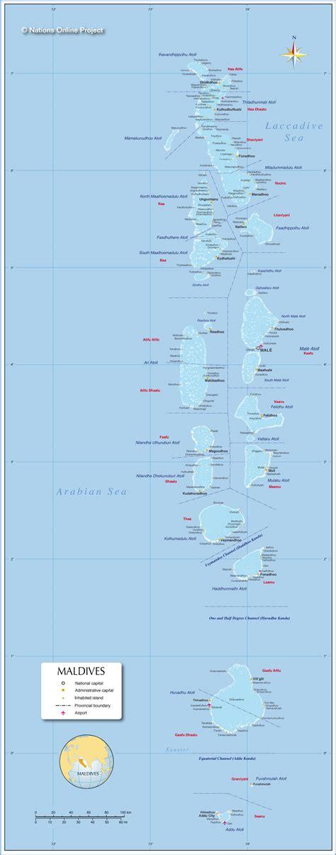 political map  maldives nations  project
