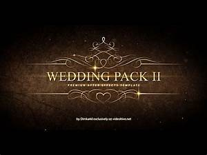 wedding pack ii adobe after effects template youtube With adobe after effects title templates free