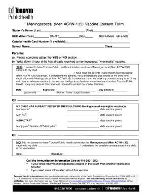 20758 vaccine consent form meningitis vaccine consent form fill printable