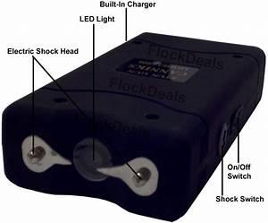 Canniks Black 6 8 Million Volt Mini Stun Gun Led Light