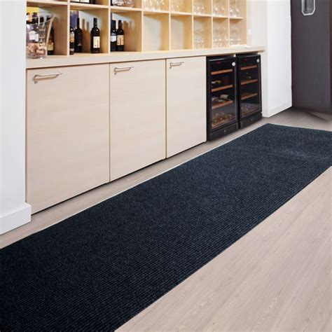 tapis cuisine long amortissant resistant anthracite