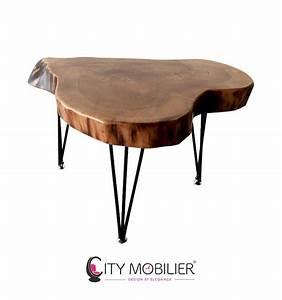 Table Basse Pied Bois : table basse en bois massif et pieds fins lempicka city ~ Teatrodelosmanantiales.com Idées de Décoration