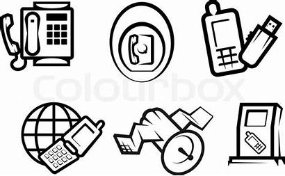 Communication Symbols Internet Technology Vector Colourbox