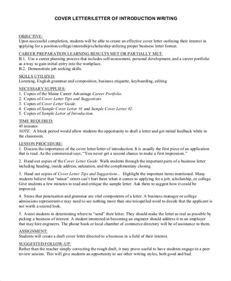 Cover Letter Introduction by Introduction Of A Cover Letter Tipsense Me