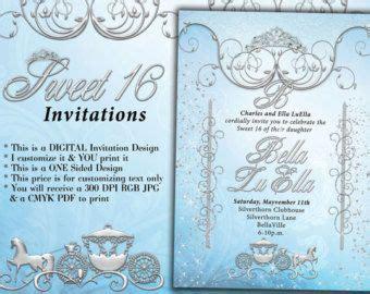 Cinderella Sweet 16 Invitations Ivoiregion