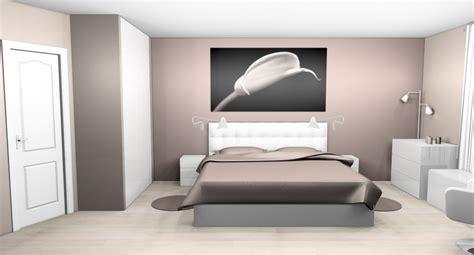 chambre couleur taupe et déco chambre taupe et blanc