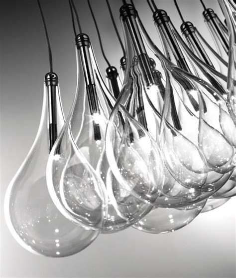teardrop cluster hanging pendant     glass pendants