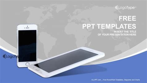 mobile phones  lines powerpoint templates