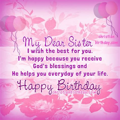 happy birthday blessings   sister