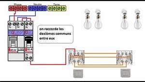 Double Va Et Vient : schema electrique du va et vient double youtube ~ Nature-et-papiers.com Idées de Décoration