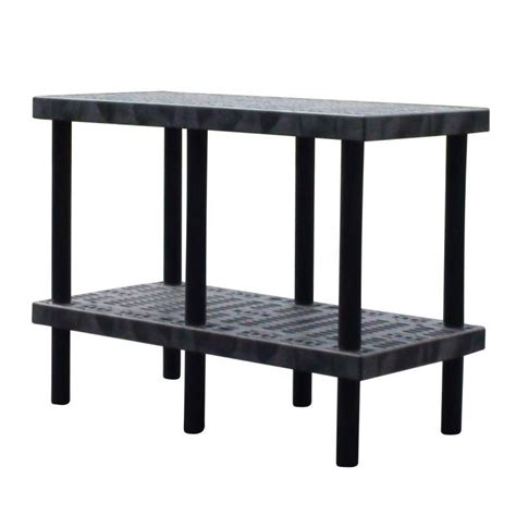 industrial plastic work benches ventilated shelves