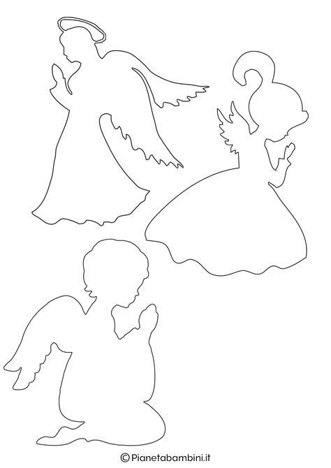 sagome  angeli da stampare  ritagliare