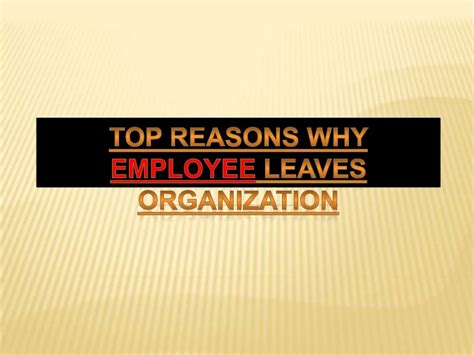 Top Three Reasons Why Dino Top Reasons Why Employee Leaves Organization
