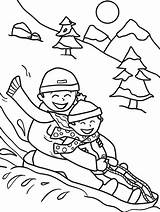 Coloring Sledding Winter Pages Printable Sheets Snow Friends Worksheet Sled Colouring Activities Printables Christmas Parents Sheet Preschool Kindergarten Adult Education sketch template