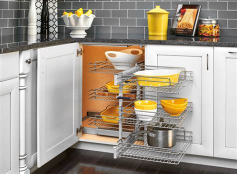 blind corners and rev a shelf basket organizer maximizes blind corner