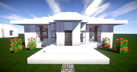 Minecraft Modernes Haus Mit Innengarten Bauen 15x23