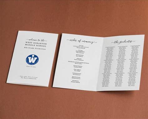 Graduation Program Template Printable Pamphlet Editable ...
