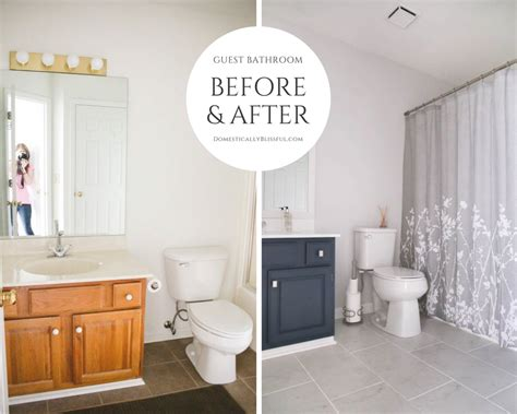 guest bathroom remodel reveal domestically blissful