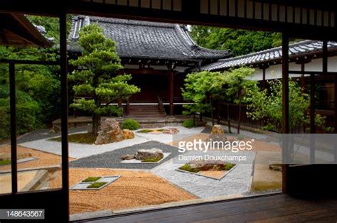 modern courtyard zen garden shinyodo temple stock photo
