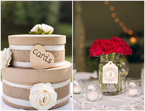 white and red country wedding rustic wedding chic
