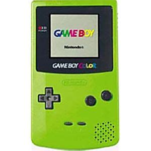 gameboy color green kiwi green boy color system on sale