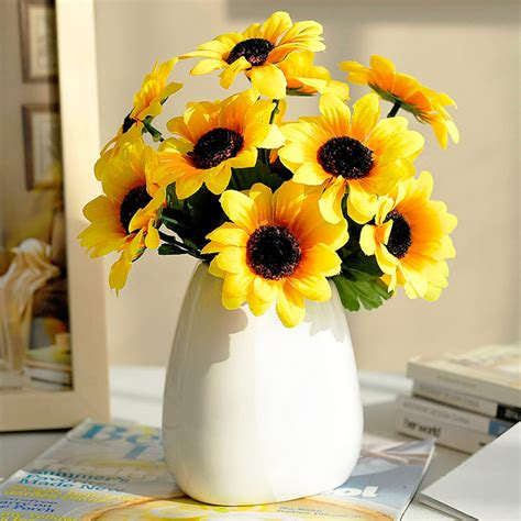 Living Room Artificial Flowers by Sunflower Artificial Flower Vase Set Living Room Dining