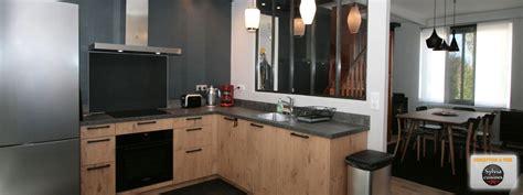 atelier de cuisine en gascogne cuisine esprit atelier cuisines caen acier béton ciré