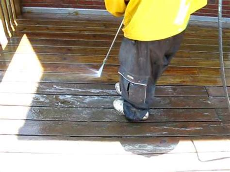 wood decking pressure washing wood decking
