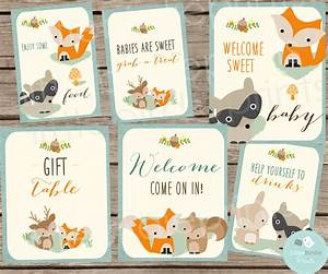 WOODLAND Baby Shower Decorations SIGNS // Woodland Baby Shower
