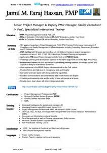 microsoft certified resume format jamil faraj hassan pmp cv