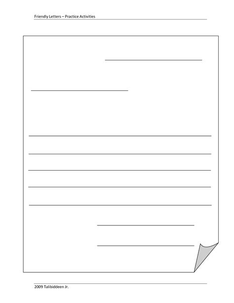 friendly letter format printable examples  forms