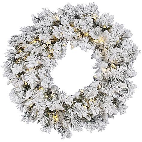 buy vickerman snow ridge 36 inch pre lit flocked wreath