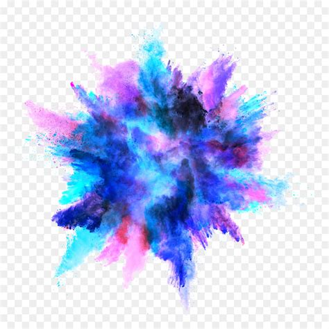 explosion of colors explosion color powder dust blue dust png