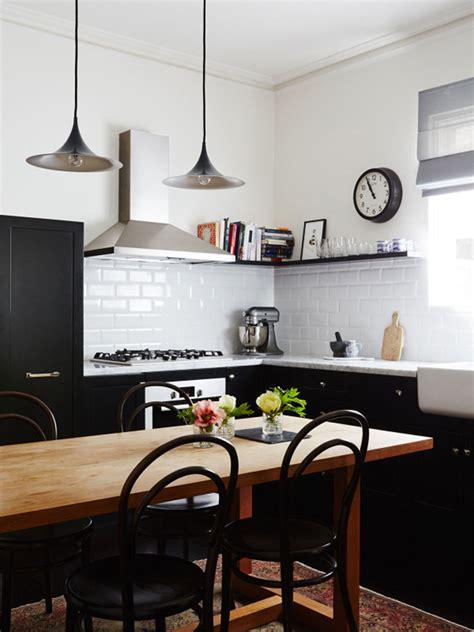 cuisine tout une cuisine terriblement chic qui ose le noir et blanc