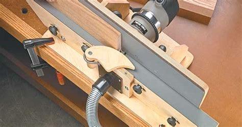 shop built router jointer woodworking plan jigs fences  pinterest router table