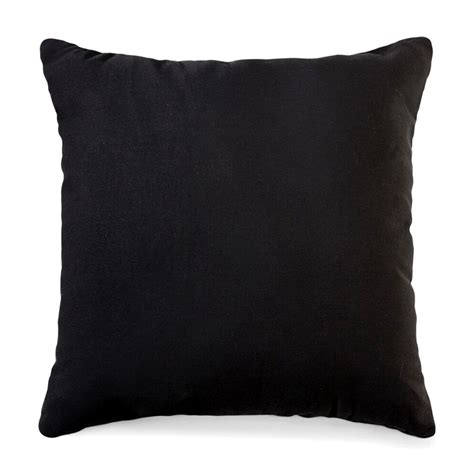 black duckcloth  corded pillow    home
