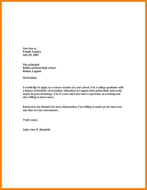 14884 application letter sle for fresh graduate financial management sle application letter for teaching position pdf 28