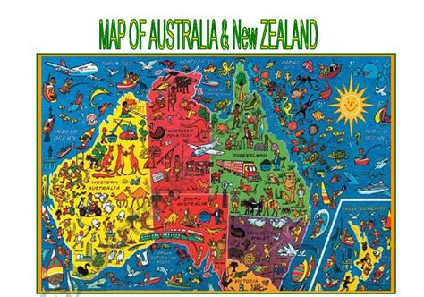 Find nearby businesses, restaurants and hotels. Map of Australia and New Zealand - ESL worksheet by miss-o