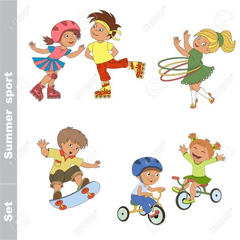 outdoor games  kids clipart   cliparts