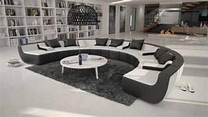 Canape d39angle cuir design rond tissera limited 1 89900 for Formation decorateur interieur avec canapé design rond