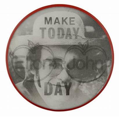 John Elton Today Beaver Busy Museum Button
