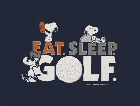 eat sleep golf  snoopy lorisgolfshoppe cool